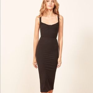 Reformation // Adrian Ribbed Body-Con Dress